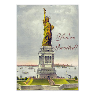 Vintage Statue of Liberty and Card