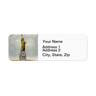 Vintage Statue of Liberty and Label