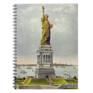 Vintage Statue of Liberty and Notebook