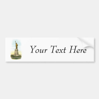 Vintage Statue of Liberty Bumper Sticker