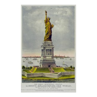 Vintage Statue of Liberty Currier and Ives
