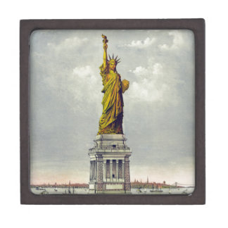 Vintage Statue of Liberty Currier and Ives Premium Jewelry Box