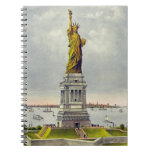 Vintage Statue of Liberty Currier and Ives Spiral Notebook