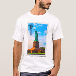 Vintage Statue of Liberty In New York City Harbor T-Shirt