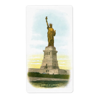 Vintage Statue of Liberty Label