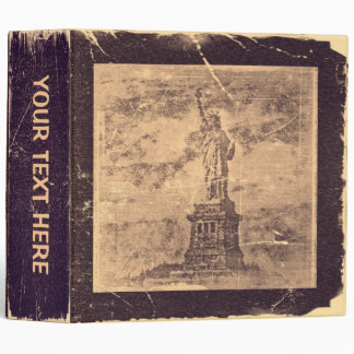 Vintage Statue Of Liberty, New York #2 - Binder