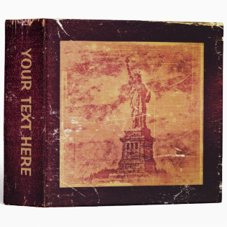 Vintage Statue Of Liberty, New York - Binder