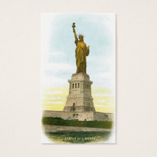 "Vintage ""Statue of Liberty"" New York Business Card"