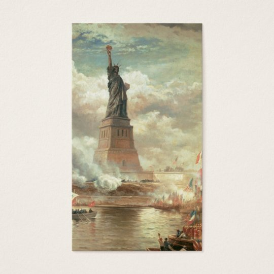 """Vintage """"Statue of Liberty"""" New York CIty Business Card"""