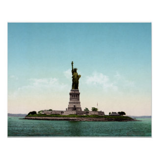 Vintage Statue of Liberty, New York harbor 1905 Poster