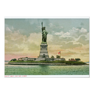 "Vintage Statue of Liberty, New York Harbor 5"" X 7"" Invitation Card"
