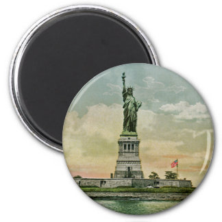 Vintage Statue of Liberty, New York Harbor Refrigerator Magnets
