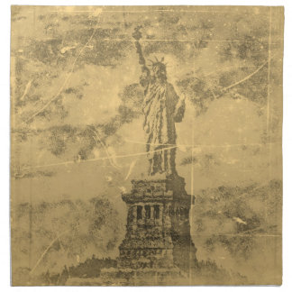 Vintage Statue Of Liberty, New York- Napkins