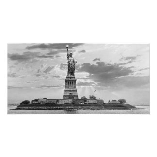 Vintage Statue of Liberty, New York USA Card
