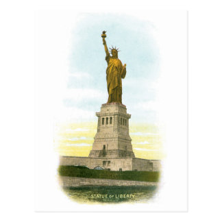 Vintage Statue of Liberty Post Card