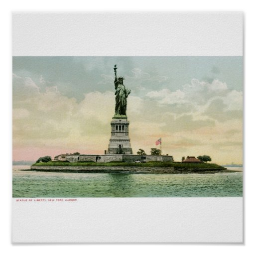 """Vintage """"Statue of Liberty"""" Poster. New York"""