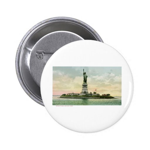 "Vintage ""Statue of Liberty"" Poster. New York. Pinback Buttons"