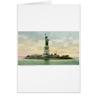 "Vintage ""Statue of Liberty"" Poster. New York. Greeting Card"