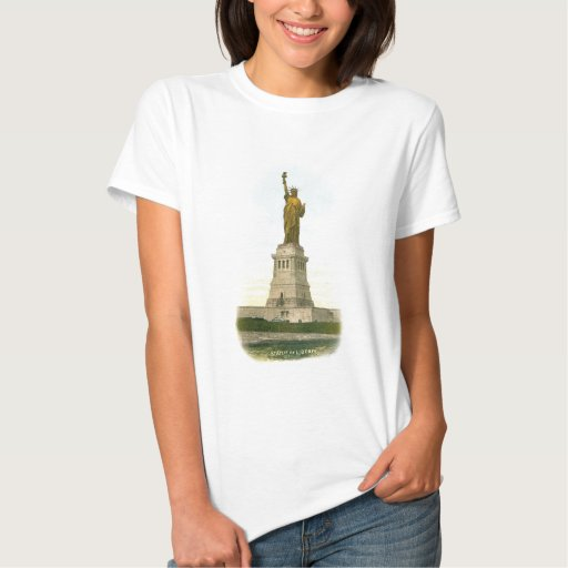 """Vintage """"Statue of Liberty"""" Poster T-Shirt"""