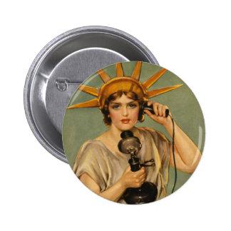 Vintage Statue of Liberty WWI Patriotic War Ad Pin