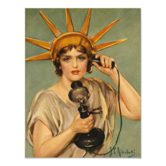 Vintage Statue of Liberty, WWI Patriotic War Ad Card