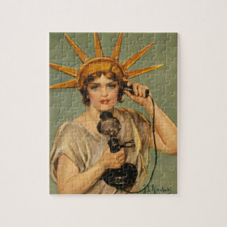 Vintage Statue of Liberty, WWI Patriotic War Ad Jigsaw Puzzle