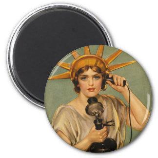 Vintage Statue of Liberty WWI Patriotic War Ad Fridge Magnet