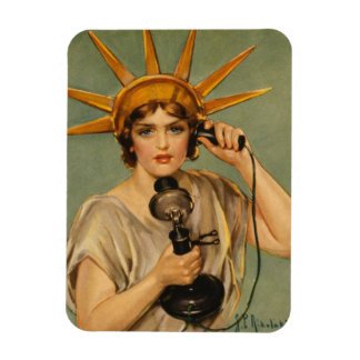 Vintage Statue of Liberty WWI Patriotic War Ad Rectangle Magnets