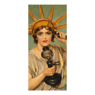 Vintage Statue of Liberty, WWI Patriotic War Ad Rack Card