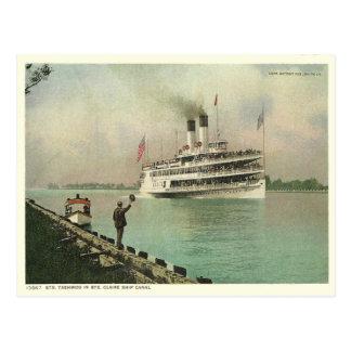 Vintage Ste. Canal de nave de Claire Postales