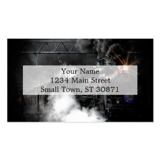 Vintage Steam Engine Black Locomotive Train Business Card