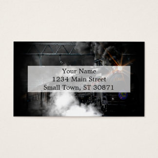 Vintage Steam Engine Black Locomotive Train Business Card