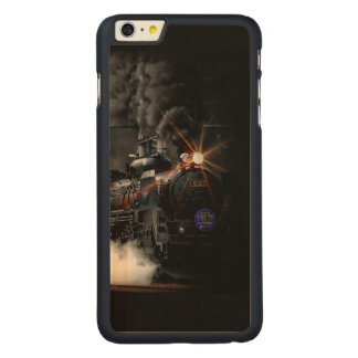 Vintage Steam Engine Black Locomotive Train Carved Maple iPhone 6 Plus Slim Case