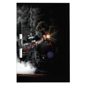 Vintage Steam Engine Black Locomotive Train Dry-Erase Boards