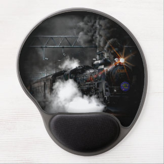 Vintage Steam Engine Black Locomotive Train Gel Mouse Pad