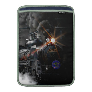 Vintage Steam Engine Black Locomotive Train Sleeve For MacBook Air