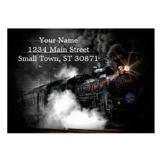 Vintage Steam Engine Black Locomotive Train Large Business Cards (Pack Of 100)