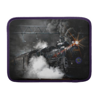 Vintage Steam Engine Black Locomotive Train MacBook Sleeve