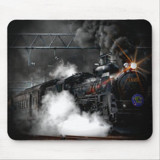 Vintage Steam Engine Black Locomotive Train Mouse Pad