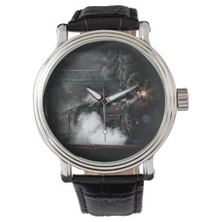Vintage Steam Engine Black Locomotive Train Watches