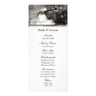 Vintage Steam Engine Locomotive Wedding Program
