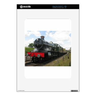 Vintage steam engine, old railway train iPad skins