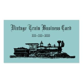 Vintage Steam Engine Train Business Card