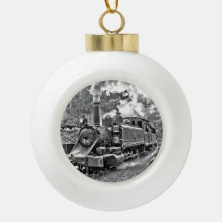 Vintage Steam Engine Train Ornament