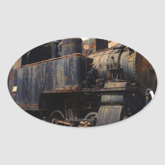 Vintage Steam Locomotive Oval Sticker