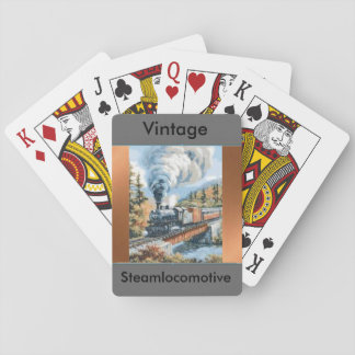 Vintage Steam locomotive playing cards