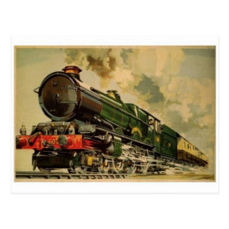 Vintage Steam Locomotive Postcard