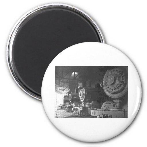 Vintage Steam Locomotive Roundhouse Magnet