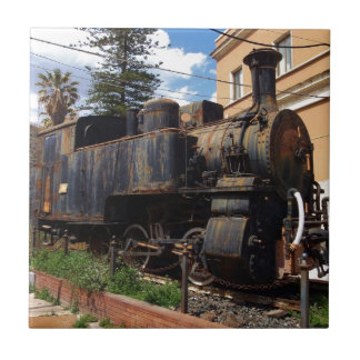 Vintage Steam Locomotive Tile