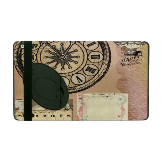 Vintage,steam punk,clocks,collage,victorian,girly, iPad cases